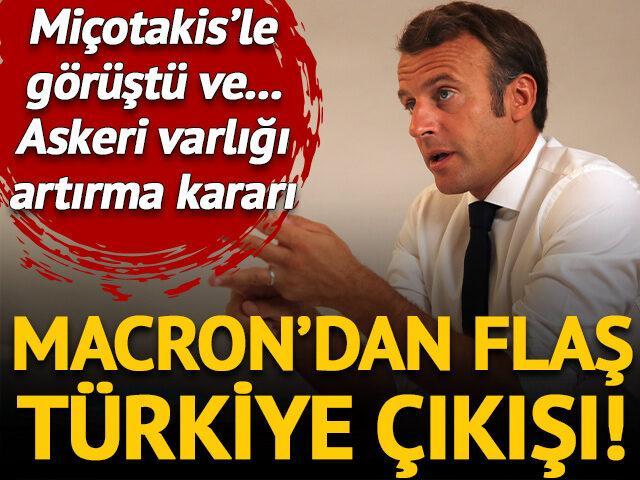 Macron'dan flaş Türkiye çıkışı! Miçotakis görüşmesinin ardından...