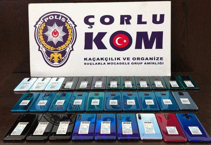 Tekirdağ'da kaçak cep telefonu operasyonu