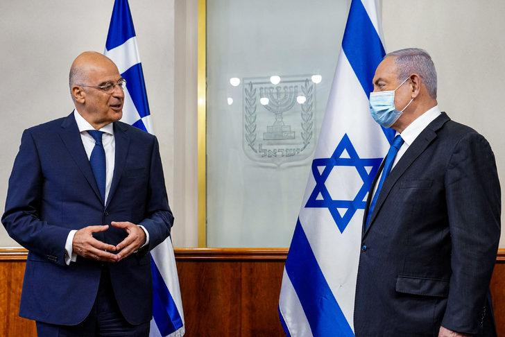 Yunanistan Dışişleri Bakanı, Netanyahu ile görüştü! Flaş Türkiye sözleri