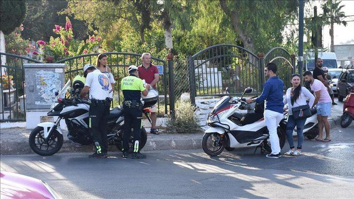 Ülke genelinde eş zamanlı motosiklet uygulaması! Trafikten men edildiler