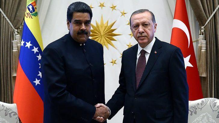 Cumhurbaşkanı Erdoğan, Venezuela Devlet Başkanı Maduro ile telefonda görüştü