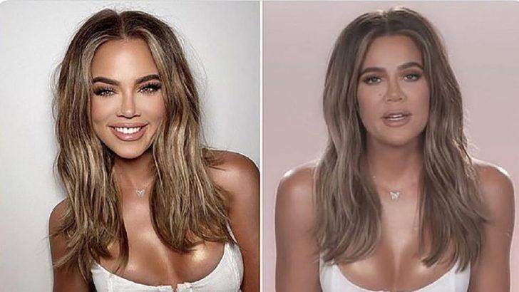 Khloe Kardashian'ın gerçek yüzü hayranlarına bile pes dedirtti!