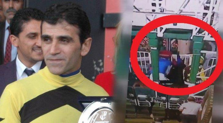 Şampiyon da bunu yaparsa! Ünlü jokey Halis Karataş at döverken yakalandı!