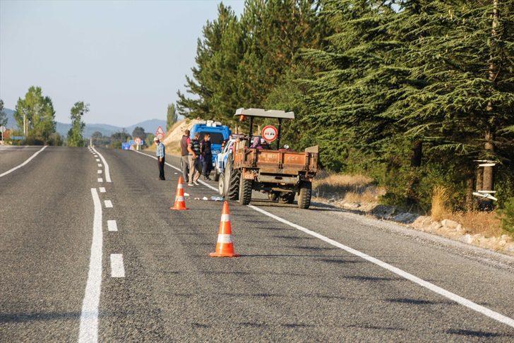 Kütahya'da traktörden düşen kişi öldü