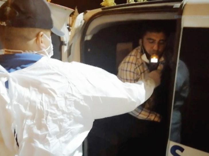 'Dur' ihtarına uymayan alkollü sürücünün koronavirüs olduğu ortaya çıktı