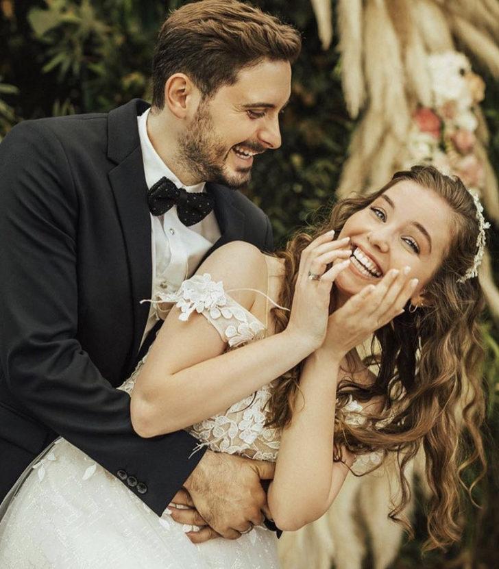 Sihirli Annem dizisinin Ceren'i Gizem Güven ile Caner Turp evlendi