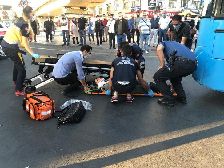 Ankara'da feci kaza! durağa giden kadına halk otobüsü çarptı