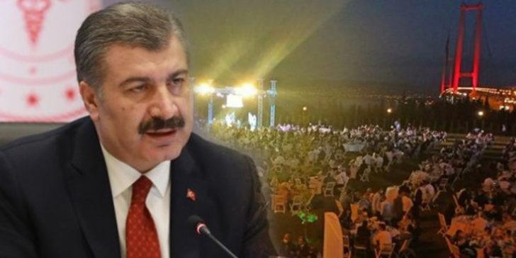 Bakan Koca'ya AK Partili vekilin oğluna yaptığı düğün soruldu! İşte yanıtı