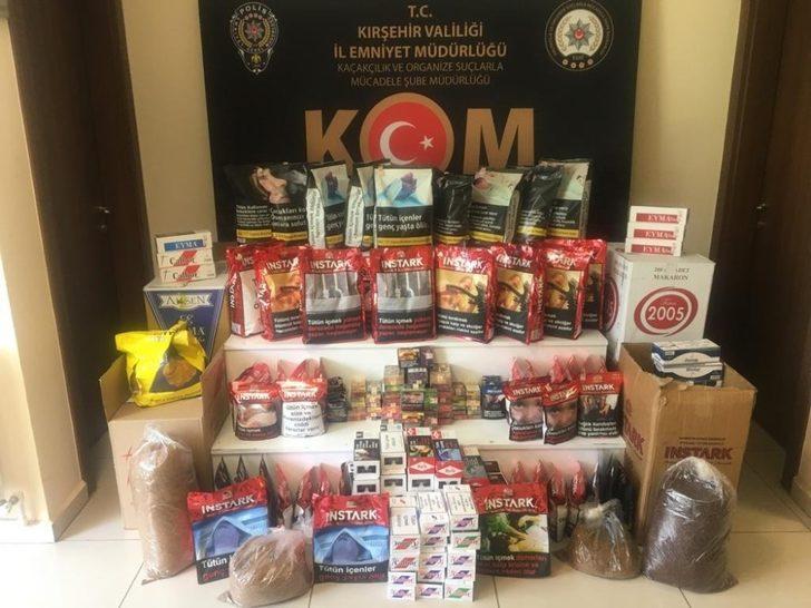 Kırşehir'de satışa hazır kaçak tütün ele geçirildi