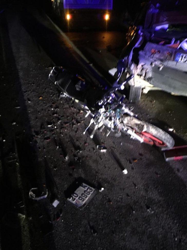 Ağır yaralanan motosiklet sürücüsü hayatını kaybetti