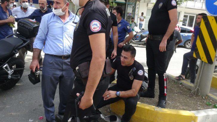 Kovalamacada yunus ekibi kaza yaptı: 2 polis yaralı