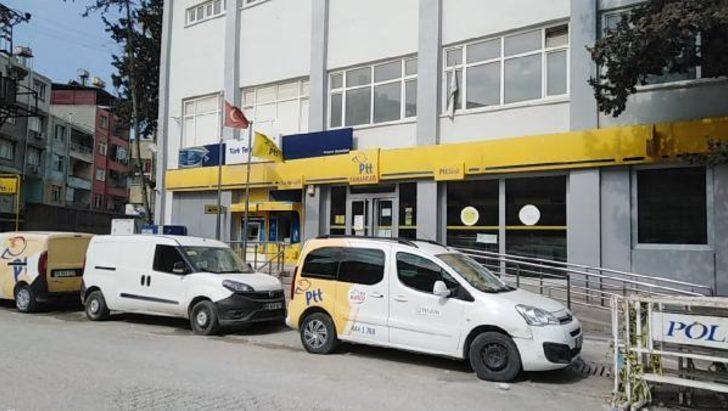 Samandağ'da PTT şubesi karantinaya alındı