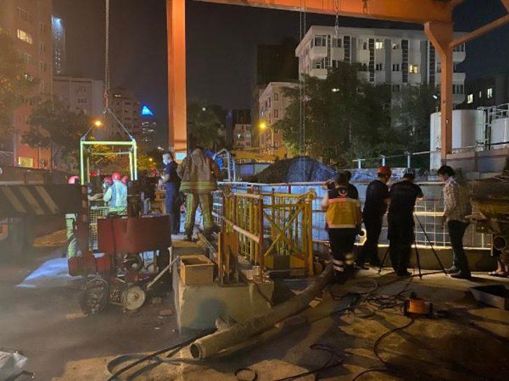 İstanbul'da metro şantiyesinde kaza! 2 kişi yaralandı