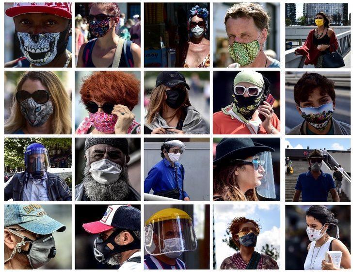 İstanbul sokaklarından ilginç maske manzaraları