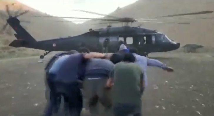 Tunceli'de yaylada rahatsızlanan kişi, askeri helikopterle hastaneye ulaştırıldı