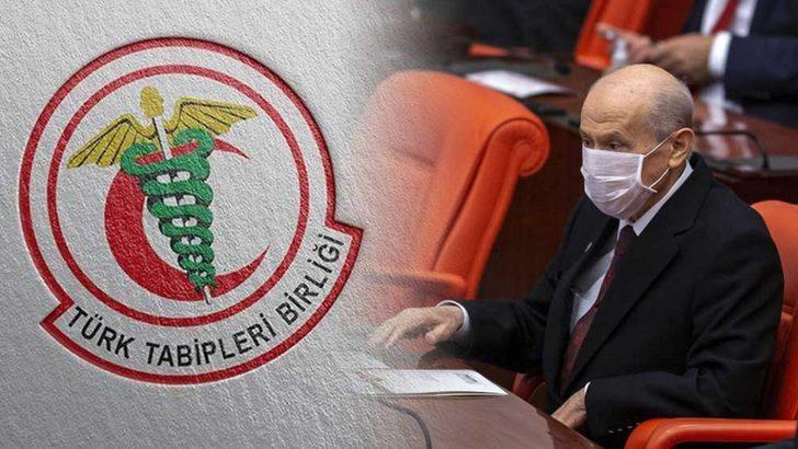 TTB'den Devlet Bahçeli'ye yanıt: Sözlerimizin arkasında, görevimizin başındayız