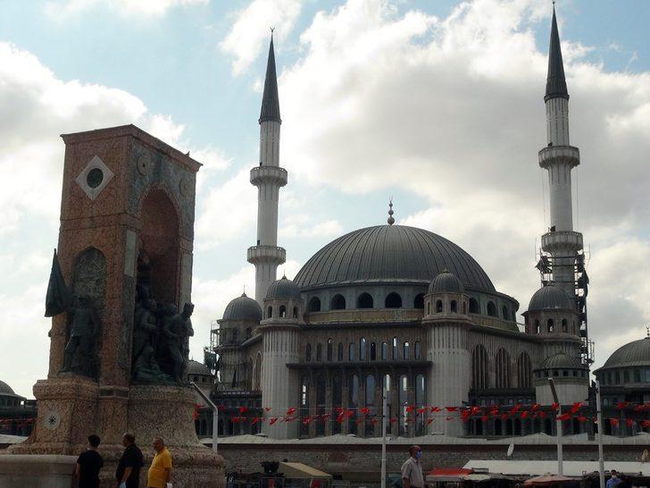 Son hali görüntülendi! İşte Taksim Camii