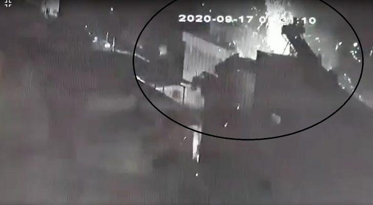 Panik anları: Bomba gibi patladı, ortalık savaş alanına döndü