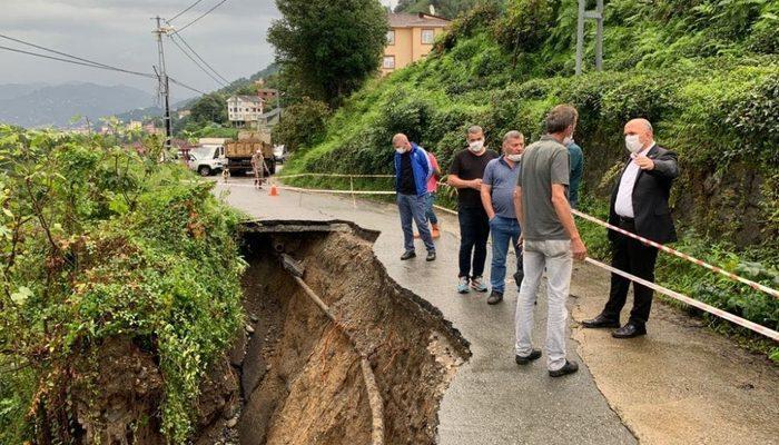 Rize'de şiddetli yağmur heyelanlara neden oldu thumbnail