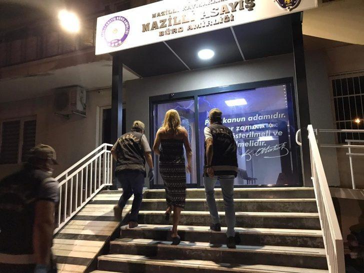 Nazilli polisinden fuhuş baskını