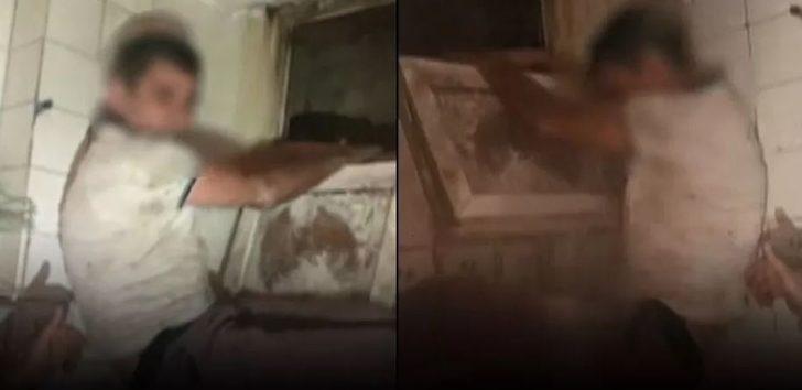 Tuvalet penceresinden kaçmaya çalışırken yakalandı