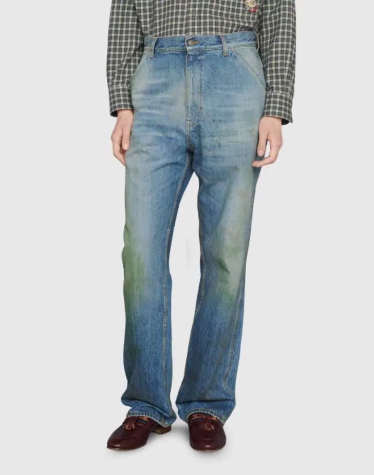 Gucci'nin 'çimen lekeli' pantolunun fiyatı dudak uçuklatıyor!