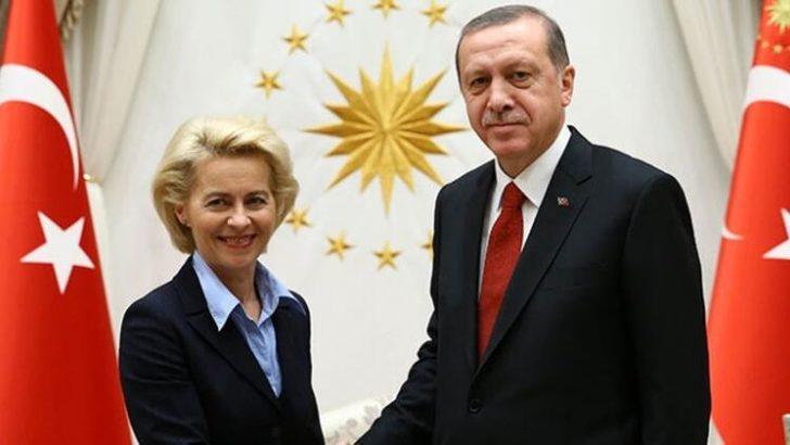Son dakika: Cumhurbaşkanı Erdoğan, AB Komisyonu Başkanı Ursula Von der Leyen ile görüştü