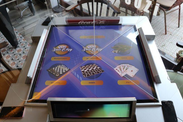 Koronavirüs önlemli dijital oyun masası üretti