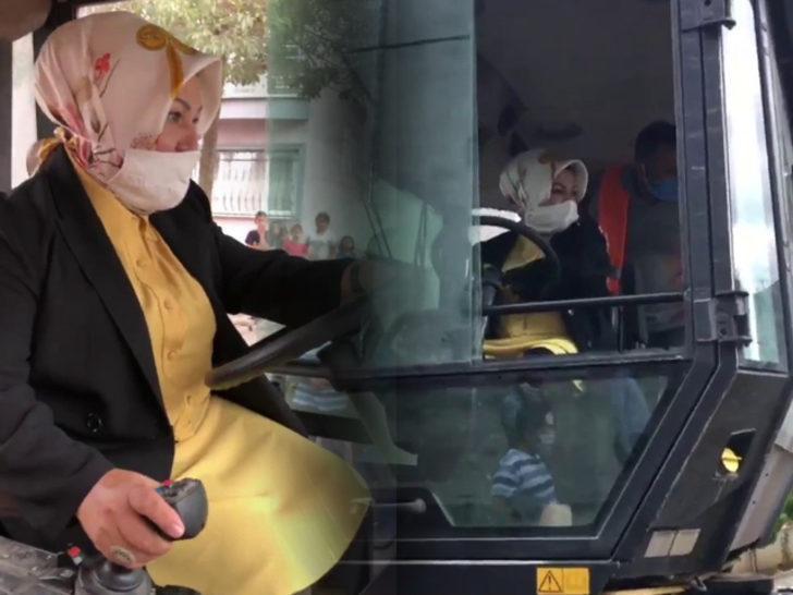Sancaktepe Belediye Başkanı Şeyma Döğücü operatör koltuğuna geçti