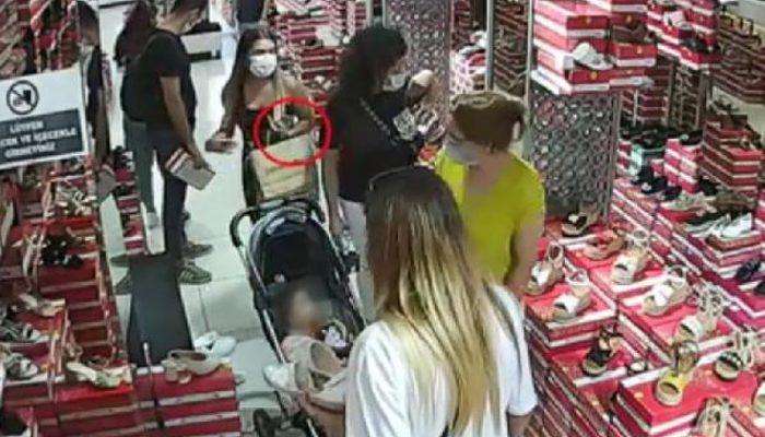 Şişli'deki hırsızlık kamerada! Genç kadın kıskıvrak yakalandı thumbnail