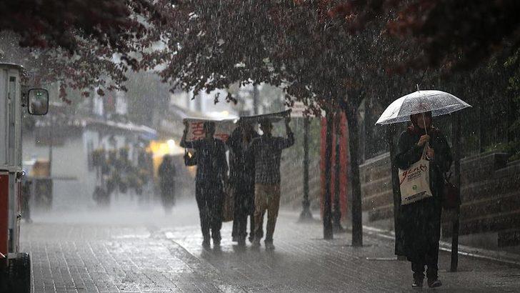 Meteoroloji'den 4 il için gök gürültülü sağanak yağış uyarısı