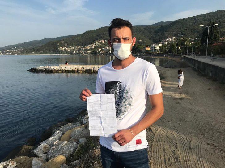 'Denizde yüzerken maske takmama cezası kesildi' iddiası