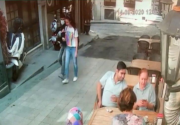 Taksim'deki kapkaç kamerada! Genç kadın dehşeti yaşadı