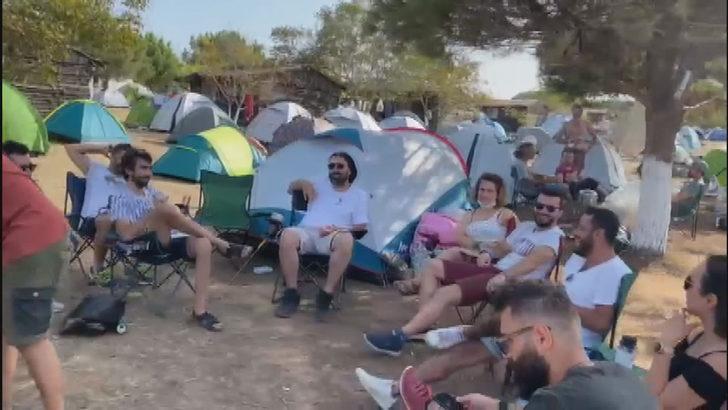 Şile'de maske ve sosyal mesafe kuralına uymayan kampçılara jandarma baskını