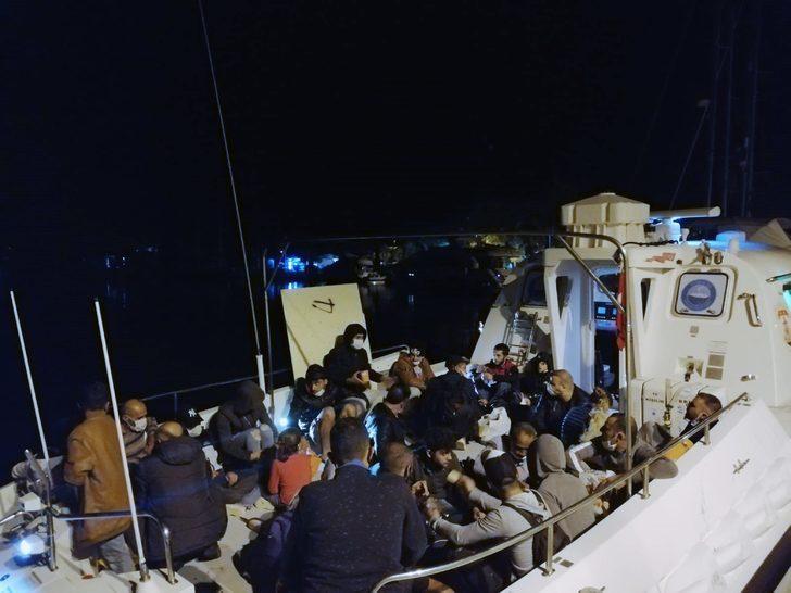 Marmaris açıklarında 87 sığınmacı kurtarıldı