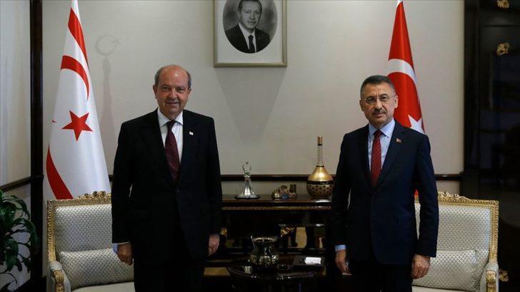 Cumhurbaşkanı Yardımcısı Oktay, KKTC Başbakanı Tatar'ı kabul etti