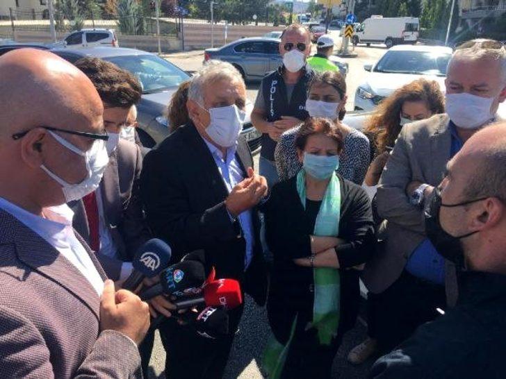 HDP'li vekillerden, Ankara Terörle Mücadele Şubesi önünde açıklama