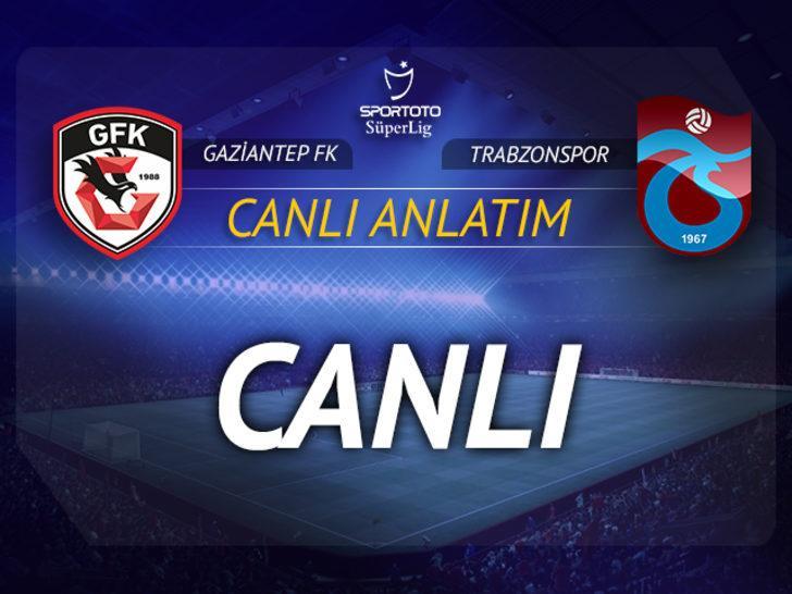 CANLI | Gaziantep FK-Trabzonspor