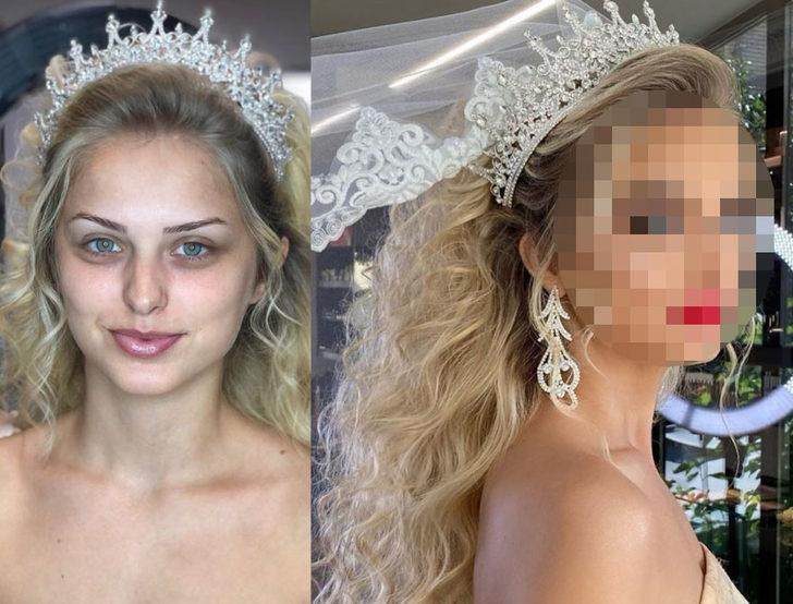 Gelinlerin makyajdan öncesi ve sonrası! İnanılmaz dönüşümler...