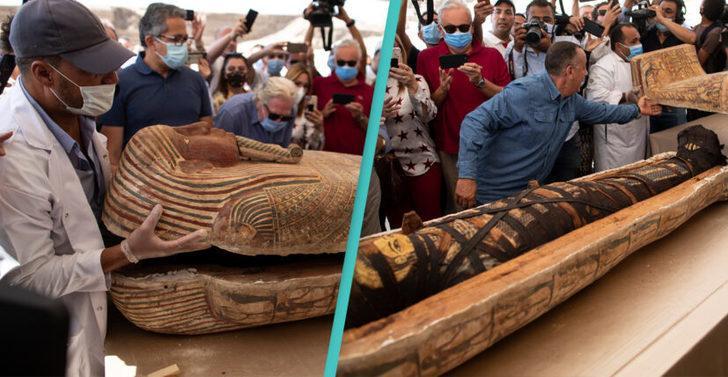 Mısır'da 2.500 yıldır açılmamış 59 antik lahit bulundu