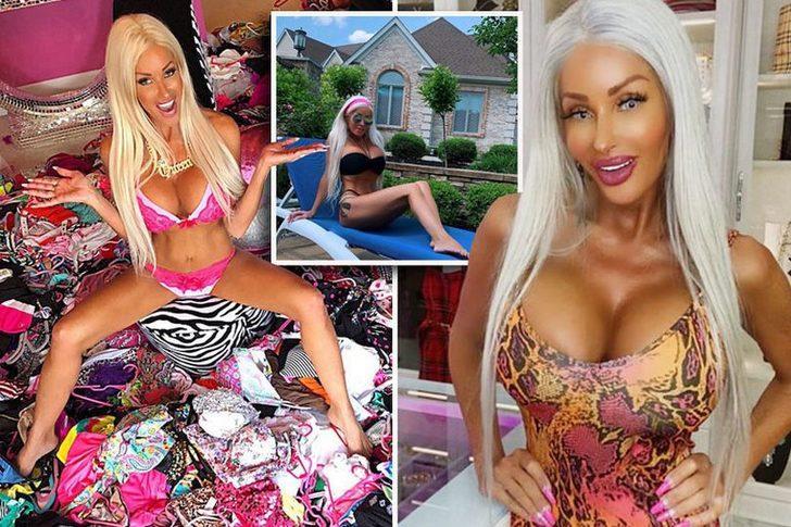 Kendine 'Barbie bebek' diyen Nannette Hammond'un evi görenleri hayrete düşürdü