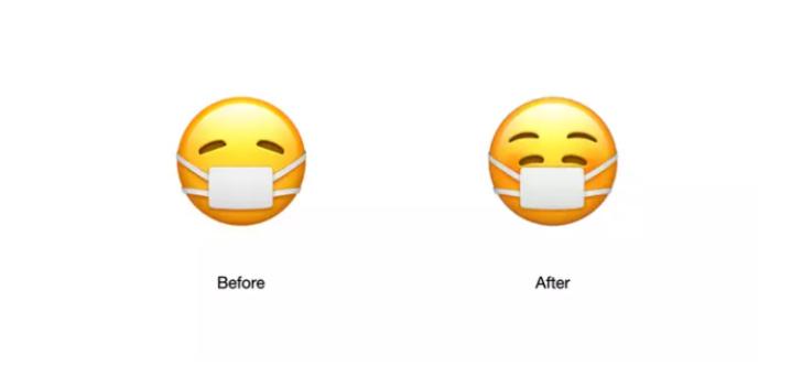Apple, koronavirüs nedeniyle maske emojisini değiştirdi