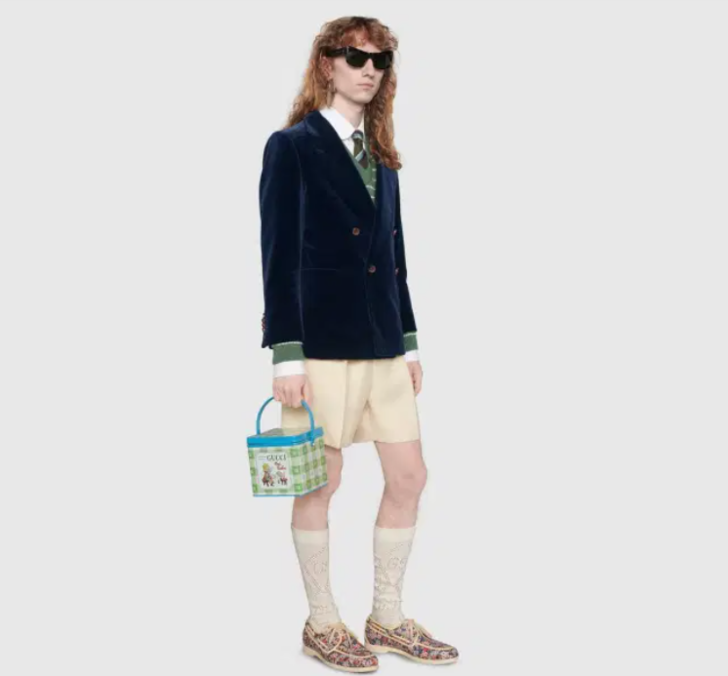 Erkek elbisesinden sonra Gucci markalı beslenme çantası da gündem oldu
