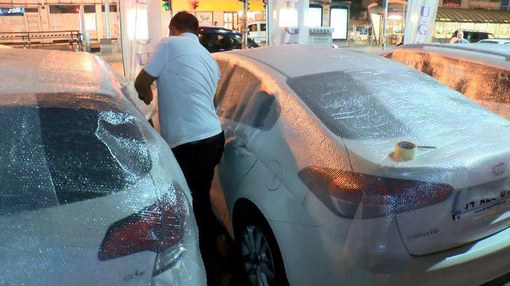 İstanbul'da vatandaşlar dolu için böyle önlem aldı