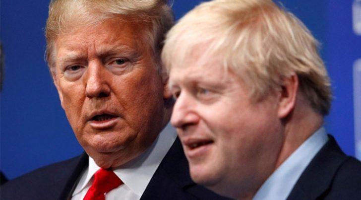 Trump ve  İngiltere Başbakanı Boris Johnson telefonda görüştü