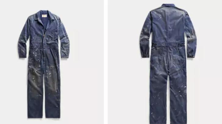 Moda devi Ralph Lauren'den 6 bin TL'ye 'boya lekeli' tulum!
