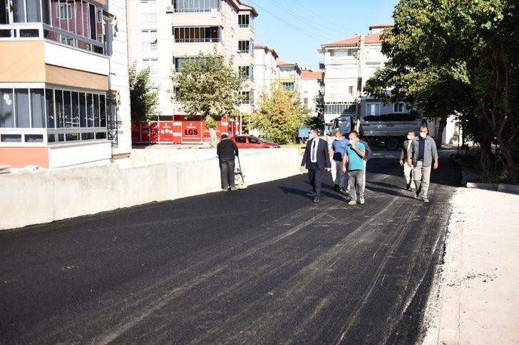 Turhal'da yol çalışmalarına hız verildi