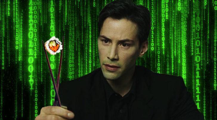 Matrix filminin gizemli kodları aslında suşi tarifiymiş