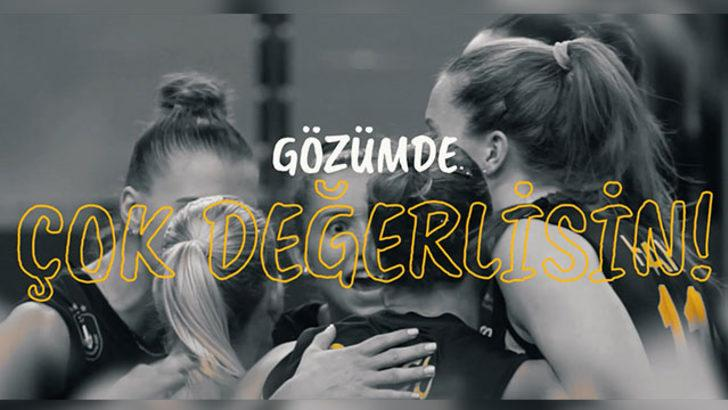 VakıfBanklı voleybolculardan kız çocuklarına özel şarkı