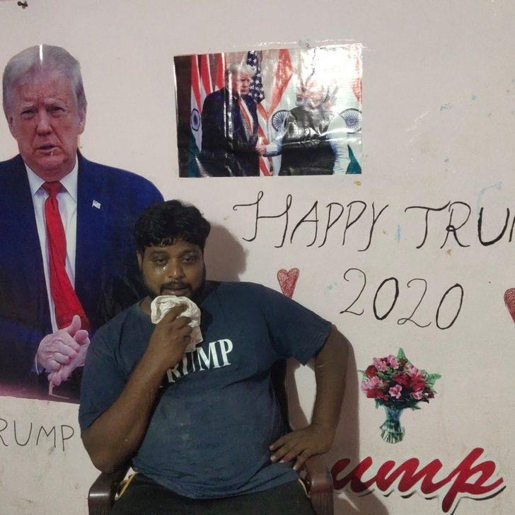 Trump'a tapan Hintli adam kalp krizinden yaşamını yitirdi